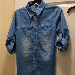 Womens jean shirt.